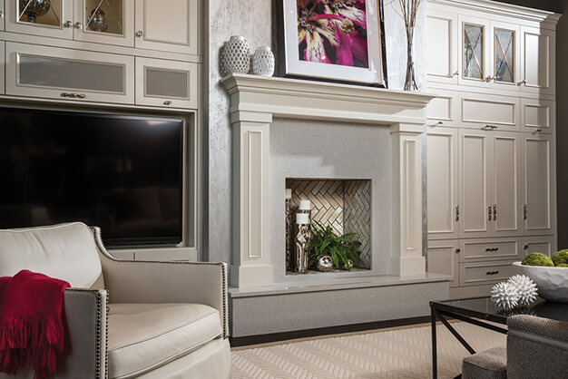 white-entertainment-builtins-fireplace-durasupreme-plymouth-cabinetry-design-wisconsin
